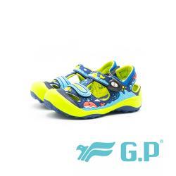 G.P 兒童磁扣護趾涼鞋 童鞋-藍綠(另有桃粉、黃)