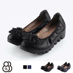 【88%】休閒鞋-MIT台灣製 舒適足弓乳膠鞋墊 金蔥厚底套腳 懶人鞋 娃娃鞋 包鞋