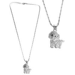 摩達客-可愛狗狗造型銀色項鍊