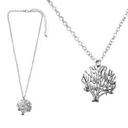 摩達客-森林小樹銀色項鍊