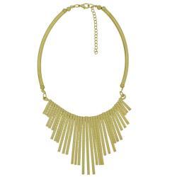 摩達客-簡約流蘇扇形金色項鍊
