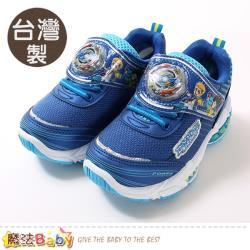 魔法Baby 男童鞋 台灣製戰鬥陀螺授權正版閃燈運動鞋~sa95616