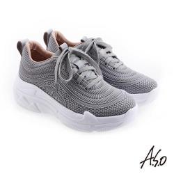 A.S.O 輕量抗震 個性時尚休閒鞋-灰