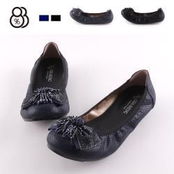 【88%】休閒鞋-MIT台灣製 金蔥鞋面套腳 豆豆鞋底 懶人鞋 娃娃鞋 包鞋