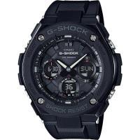 CASIO G-SHOCK 絕對強悍太陽能數位手錶-IP黑錶殼/膠帶(GST-S100G-1B)