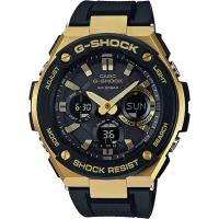 CASIO G-SHOCK 絕對強悍太陽能數位手錶-IP金錶殼/膠帶(GST-S100G-1A)
