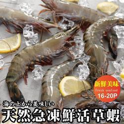 (買2送2)海肉管家-嚴選新鮮活凍草蝦 共4盒(每盒300g±10%/約16-20隻)