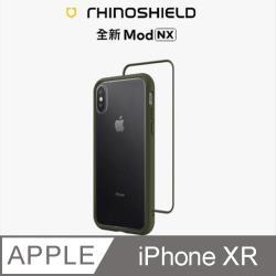 【RhinoShield 犀牛盾】iPhone XR Mod NX 邊框背蓋兩用手機殼-軍綠色