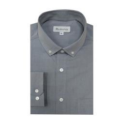 台灣製[MURANO]紳式風長袖襯衫-淺灰色