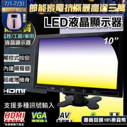 CHICHIAU-10吋LED液晶螢幕顯示器(AV、VGA、HDMI)