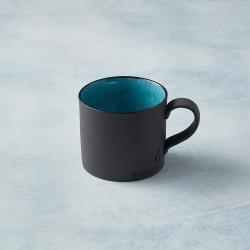 有種創意 - 日本美濃燒 - 黑陶釉彩馬克杯 - 青綠