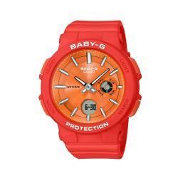【CASIO 卡西歐】BABY-G 霓虹系列夜光防水腕錶-橘(BGA-255-4A)