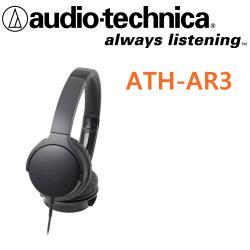 日本鐵三角 Audio-Technica  ATH-AR3 可折疊式耳罩式耳機 收納後體積小方便帶