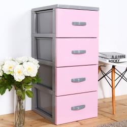 HOUSE-泡泡糖-四層玩具衣物收納櫃(多色可選)