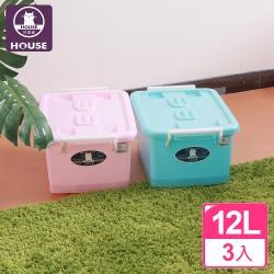 HOUSE-C300彩瓷滑輪整理箱SS12L(3入)