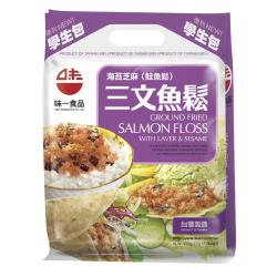 【味一食品】海苔芝麻三文魚鬆15g*10入(學生袋)*6入組
