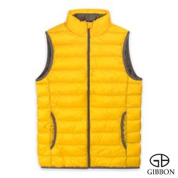 GIBBON 男款輕暖時尚立領羽絨背心-二色