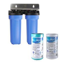 怡康 10吋大胖標準二道藍色濾殼吊片組-含濾心NR*1+CTO*1