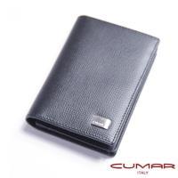 【CUMAR】經典義大利牛皮細壓紋-名片夾
