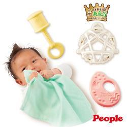 日本People-彩色米的玩具精選4件組(日本製)(0個月-)