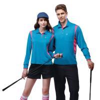 【SPAR】吸濕排汗男版長袖POLO衫SP69412亮藍色