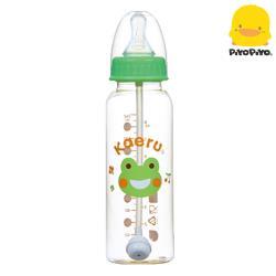 黃色小鴨 Piyo Piyo -哈皮蛙 PES自動吸管標準口徑奶瓶240ml
