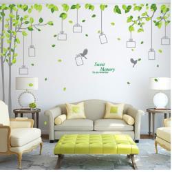 【半島良品】DIY無痕創意牆貼/壁貼-記憶森林 AY220雙拼