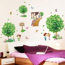 【半島良品】DIY無痕創意牆貼/壁貼-愛情小樹 XL7096中