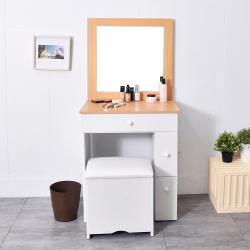 凱堡 安琪拉化妝收納桌椅組 化妝桌/梳妝台/化妝台/收納櫃 (兩色)