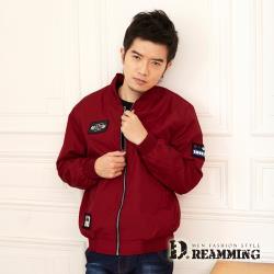 【Dreamming】質感布標刺繡防風飛行夾克外套(共二色)