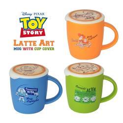 日本Entrex玩具總動員Latte Art馬克杯咖啡杯1435胡迪/巴斯光年/三眼怪(附拉花造型矽膠杯蓋)Toy Story咖啡杯子