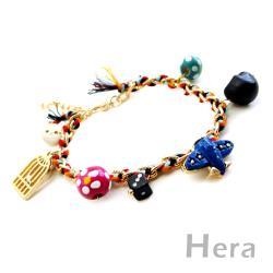 Hera 赫拉 玩色世界 編織墜多款甜美物手鍊(魅影金)