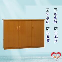 轉角傢俱-塑鋼碗盤櫃 防潮防水防發霉 (寬124深43高81)四色可選