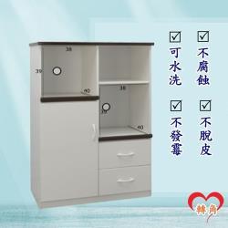 轉角傢俱-塑鋼電器櫃 防潮防水防發霉 (寬83深43高124)二色可選