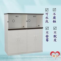 轉角傢俱-塑鋼電器櫃 防潮防水防發霉 (寬128深43高112)二色可選