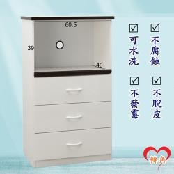 轉角傢俱-塑鋼電器櫃 防潮防水防發霉 (寬66深43高112)二色可選