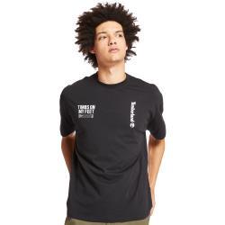 Timberland 男款黑色字母印花寬鬆短袖圓領T恤A28NN001