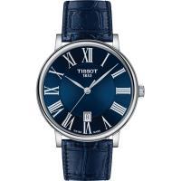 TISSOT 天梭 Carson 羅馬石英錶-藍/ 40mm T1224101604300