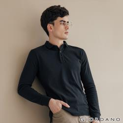 GIORDANO 男裝素色長袖POLO衫  (多色任選)
