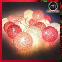 摩達客 20燈LED絲線網球燈球殼燈-少女粉色系(USB  電池二用款)