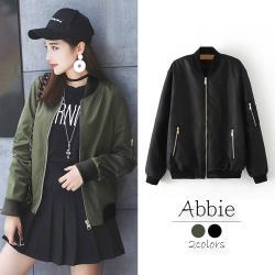 【Abbie】寬鬆顯瘦拉鍊外套