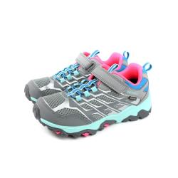 MERRELL 健行鞋 運動鞋 防水 灰色 魔鬼氈 童鞋 MLK162588 no056