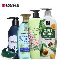 ELASTINE X朵蔓 綜合系列洗潤4件組(茶樹+綠野香水+強健髮根洗髮+酪梨潤髮)