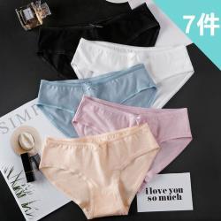 BoBo少女系 韓系素雅風 7件入 少女學生低腰棉質三角內褲