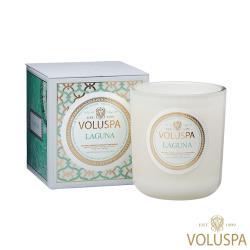 美國 VOLUSPA  Maison Blanc 白屋系列 Laguna 拉古納 浮雕玻璃罐 340g 香氛蠟燭