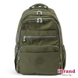 iBrand後背包 經典百搭超輕盈多口袋後背包(大)-森林綠 TGT-1376-G