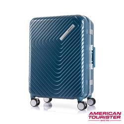 AT美國旅行者 24吋Esquino 鋁合金細框剎車雙輪行李箱(藍)-GN1*71002