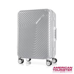 AT美國旅行者 24吋Esquino 鋁合金細框剎車雙輪行李箱(銀)-GN1*85002