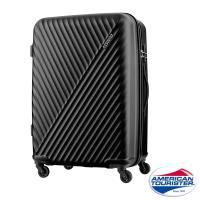 AT美國旅行者 28吋Visby線條防刮硬殼TSA行李箱(黑)-AX9*09007