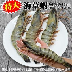 海肉管家-嚴選特大海草蝦(1尾/每尾約120g±10%)